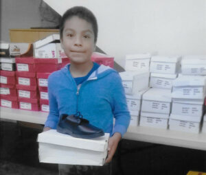 Student with New Shoes