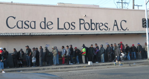 People in line at Casa